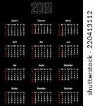 calendar for 2015   week starts ... | Shutterstock .eps vector #220413112