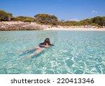 woman bathing in talaier creek  ... | Shutterstock . vector #220413346