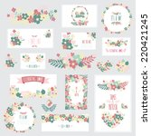elegant cards with floral... | Shutterstock .eps vector #220421245