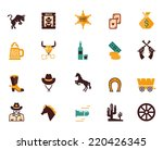 Large Set Of Colored Western...