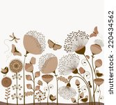 floral card with stylized... | Shutterstock .eps vector #220434562
