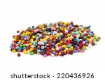 colorful beads isolated on... | Shutterstock . vector #220436926