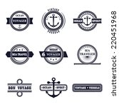 set of nine vintage marine... | Shutterstock .eps vector #220451968