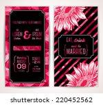 wedding invitation cards... | Shutterstock .eps vector #220452562