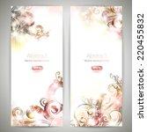 brochure templates with swirls. ... | Shutterstock .eps vector #220455832