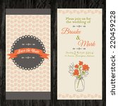 double wedding invitation with... | Shutterstock .eps vector #220459228