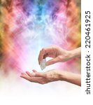 crystal healer holding... | Shutterstock . vector #220461925