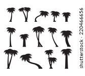 palms set | Shutterstock .eps vector #220466656