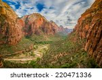 magical landscape from zion... | Shutterstock . vector #220471336