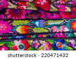 traditional mayan textiles on s ...   Shutterstock . vector #220471432