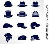 different types of men hats  ... | Shutterstock .eps vector #220472698