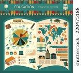 education school infographics.... | Shutterstock .eps vector #220475188