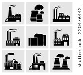factory icons   Shutterstock . vector #220476442