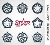 vector heraldic emblems... | Shutterstock .eps vector #220477996