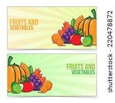 autumn banner set with fruits... | Shutterstock .eps vector #220478872