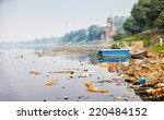 bank of yamuna river near the... | Shutterstock . vector #220484152