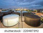 landscape of oil refinery... | Shutterstock . vector #220487392