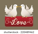 love graphic design   vector... | Shutterstock .eps vector #220489462