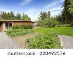 brick house exterior. backyard... | Shutterstock . vector #220492576