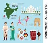travel concept india landmark... | Shutterstock .eps vector #220500142