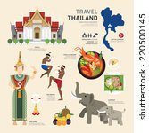 travel concept thailand... | Shutterstock .eps vector #220500145