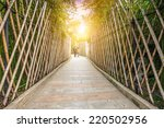 sidewalk in the bamboo forest | Shutterstock . vector #220502956