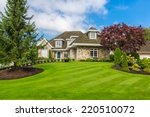 custom built luxury house with... | Shutterstock . vector #220510072