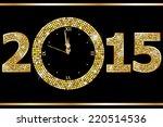 new year clock  | Shutterstock .eps vector #220514536