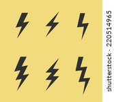 thunderbolt signs on yellow... | Shutterstock .eps vector #220514965