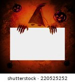 Devil Holding Blank Board For...