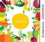 vegetables vector illustration   Shutterstock .eps vector #220529692