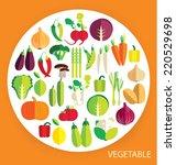 vegetables vector illustration   Shutterstock .eps vector #220529698