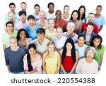 large group of people | Shutterstock . vector #220554388