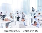 group of business people... | Shutterstock . vector #220554415