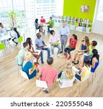 group of student in the... | Shutterstock . vector #220555048