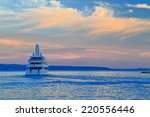 colorful clouds on the sky and... | Shutterstock . vector #220556446