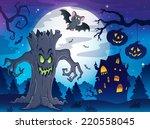 scenery with halloween... | Shutterstock .eps vector #220558045