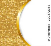 golden card with ribbon with... | Shutterstock .eps vector #220572358