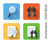 flat search icons. vector...