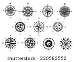 vintage nautical or marine wind ... | Shutterstock .eps vector #220582552