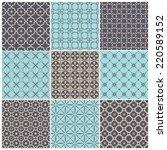 set of seamless patterns.... | Shutterstock .eps vector #220589152