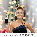 technology  holidays and people ... | Shutterstock . vector #220590622