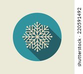 snowflake icon with long shadow.... | Shutterstock .eps vector #220591492