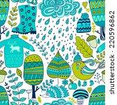vector seamless pattern ... | Shutterstock .eps vector #220596862