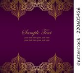 Invitation Card With Golden...
