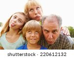 grandparents and grandchildren... | Shutterstock . vector #220612132