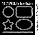tire tracks frame set. vector... | Shutterstock .eps vector #220614682
