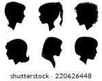 face woman profile vector... | Shutterstock .eps vector #220626448
