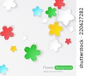 flower background | Shutterstock .eps vector #220627282