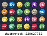 sale tag label sets | Shutterstock . vector #220627732